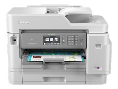 Brother MFC-J5945DW - Multifunction printer - colour - ink-jet - Legal (216 x 356 mm) (original) - A3/Ledger (media) - up to 15 ppm (copying) - up to 35 ppm (printing) - 600 sheets - 33.6 Kbps - USB 2.0, LAN, Wi-Fi(n), USB host, NFC