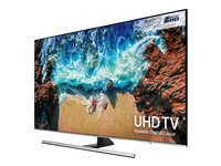 "Samsung UE65NU8000T - 65"" Class 8 Series LED TV - Smart TV - 4K UHD (2160p) 3840 x 2160 - HDR - UHD dimming, Ultra Slim Array - slate black, eclipse silver"