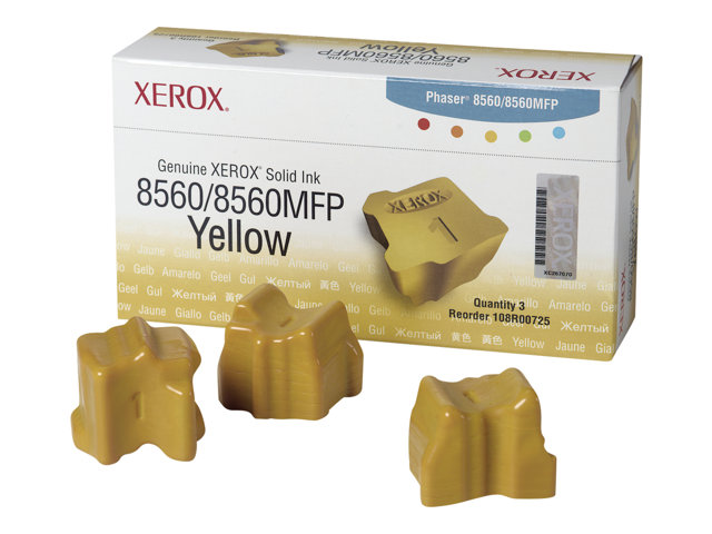 Xerox Phaser 8560MFP - Pack de 3 - jaune - encres solides - pour Phaser 8560