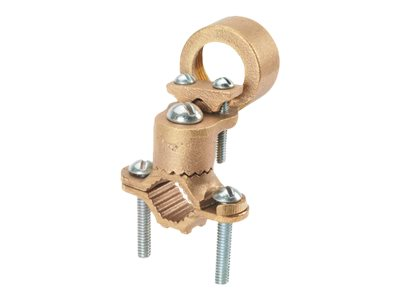 Panduit Structured Ground Mechanical Connectors Bronze Ground Clamp for Conduit with Guillotine, Heavy Duty - grounding…