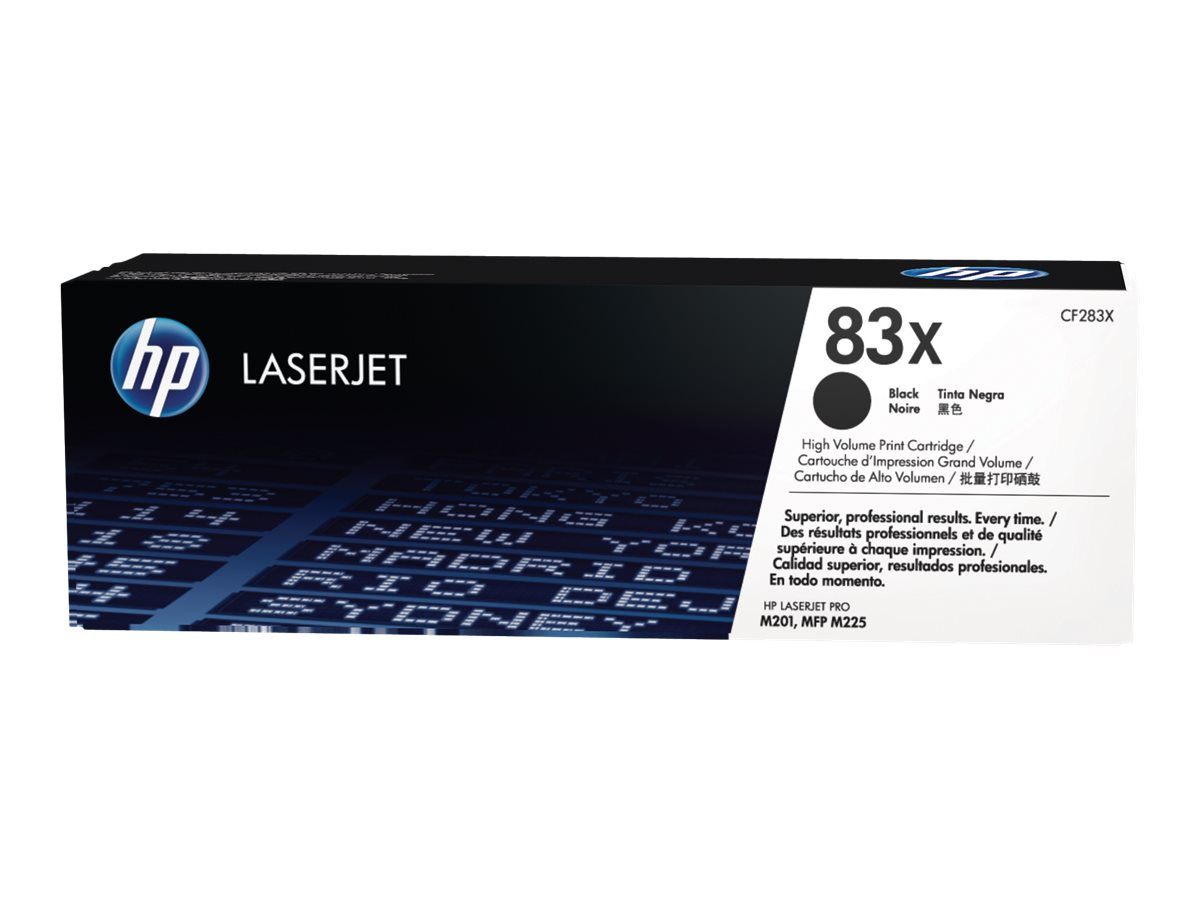 HP 83X - High Yield - black - original - LaserJet - toner cartridge (CF283X)