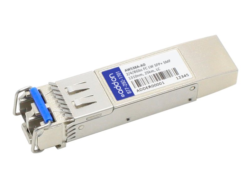 AddOn HP AW538A Compatible SFP+ Transceiver - SFP+ transceiver module - 2Gb Fibre Channel (LW), 4Gb Fibre Channel (LW),…