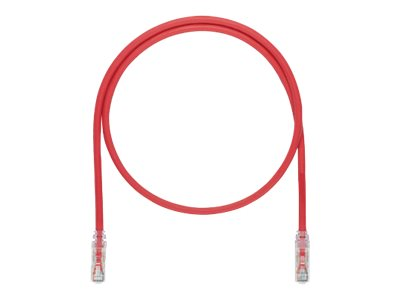 Panduit TX6A 10Gig patch cable - 9.14 cm - red