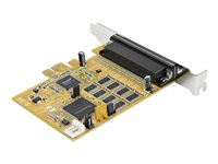 StarTech.com 8-Port PCI Express RS232 Serial Adapter Card - PCIe RS232 Serial Card - 16C1050 UART - Multiport Serial DB9 Controller/Expansion Card - 15kV ESD Protection - Windows & Linux - Serial adapter - PCIe - RS-232 x 8 - yellow