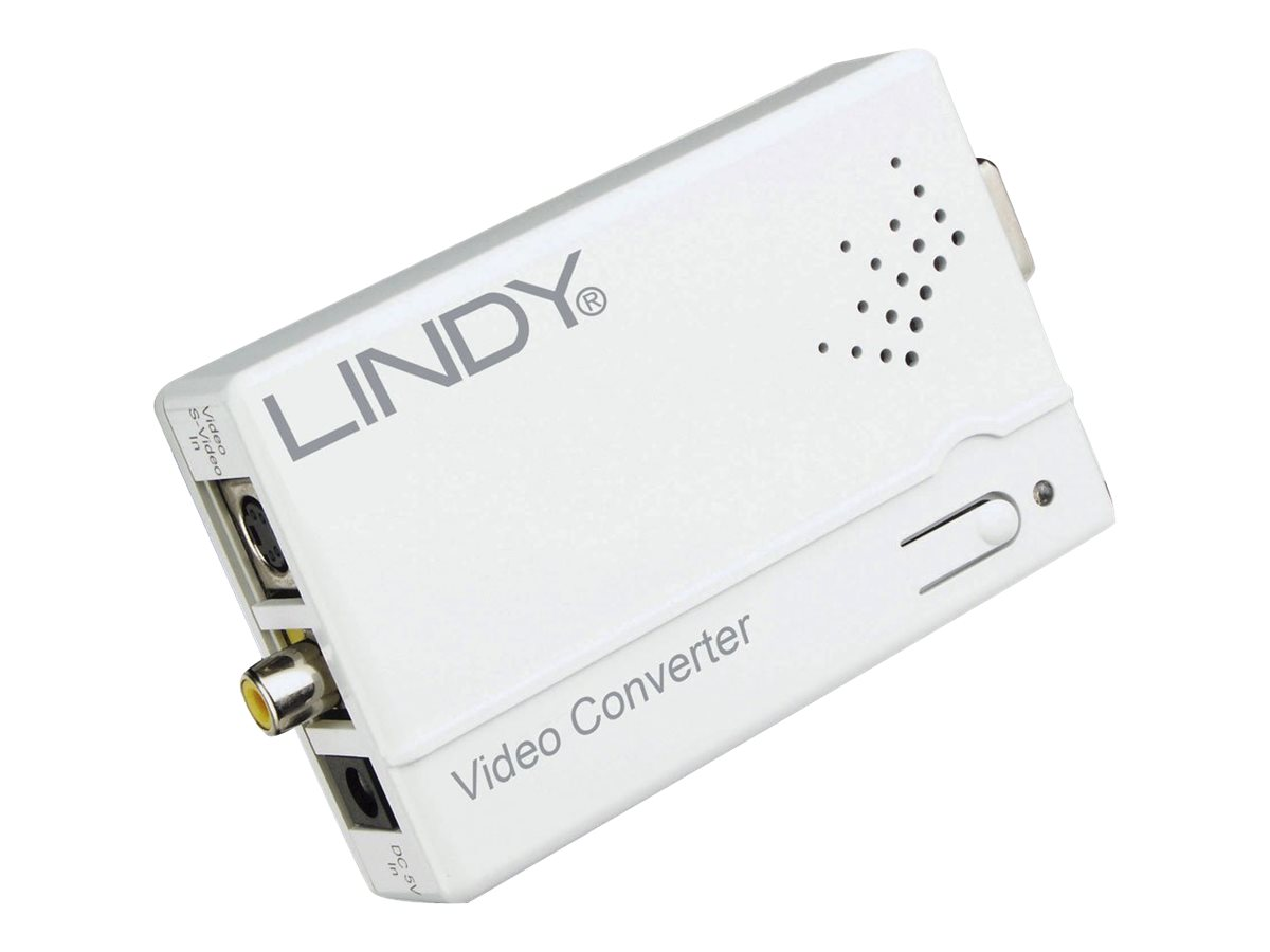 Lindy - Videokonverter - Composite Video, S-video - VGA - weiß