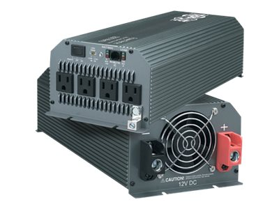Tripp Lite Compact Inverter 1000W 12V DC to 120V AC 4 Outlets 5-15R - DC to AC power inverter - 1 kW