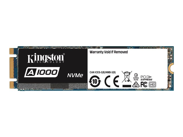 Kingston A1000 - Disque SSD - 240 Go - interne - M.2 2280 - PCI Express 3.0 x2 (NVMe)
