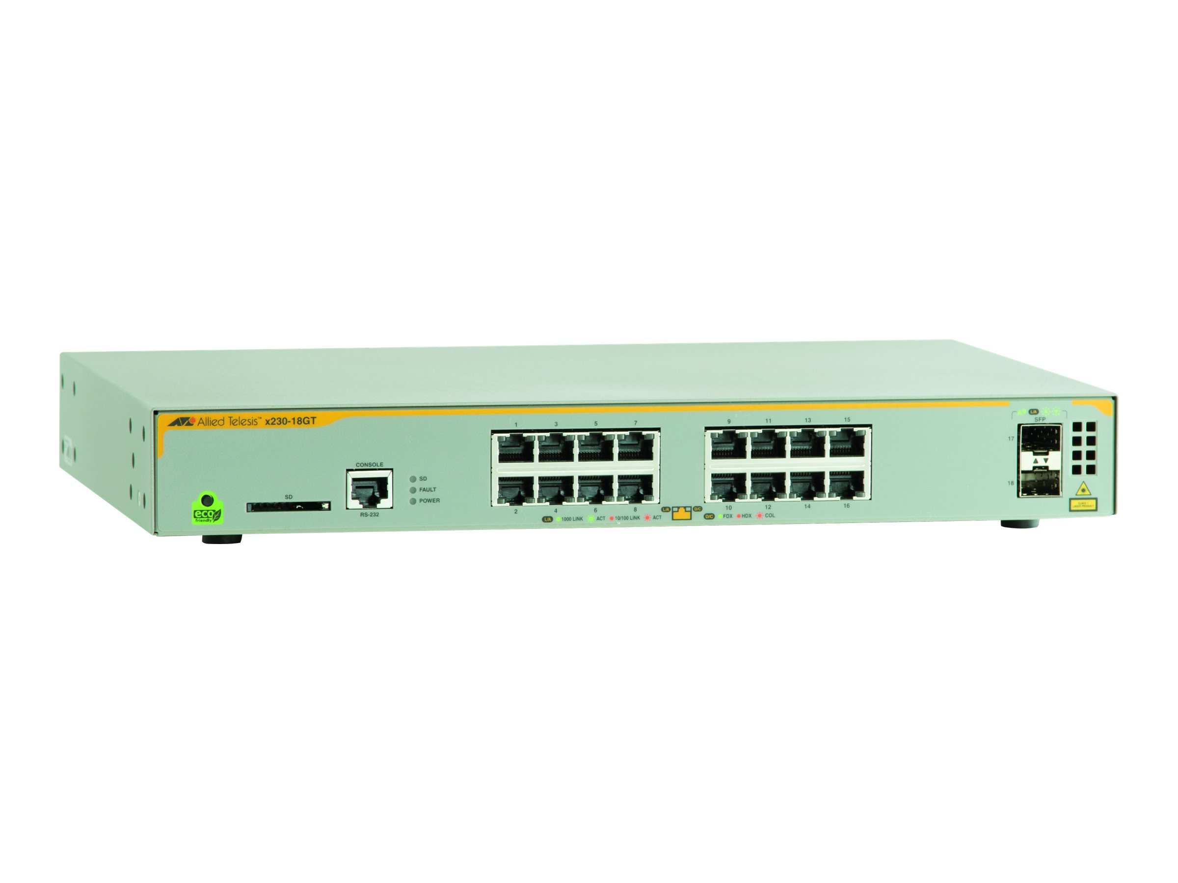 Allied Telesis AT x230-18GT - switch - 16 ports - managed - rack-mountable