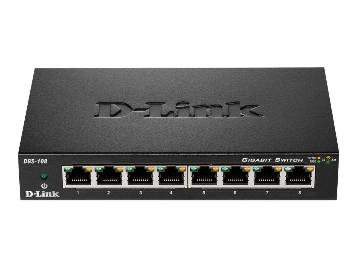 D-Link DGS 108 - switch - 8 ports