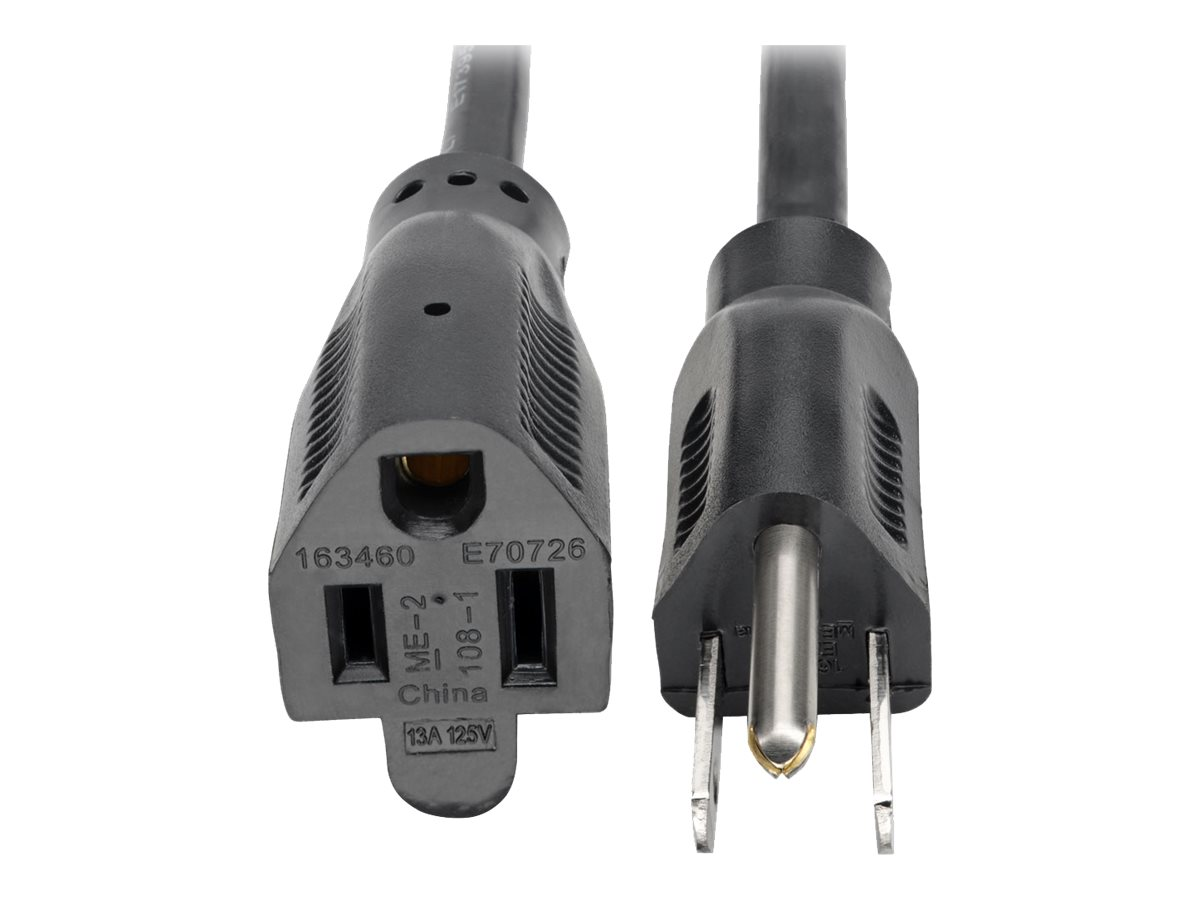 Tripp Lite 1ft Power Cord Extension Cable 5-15P to 5-15R 13A 16AWG 1' - power extension cable - 30 cm