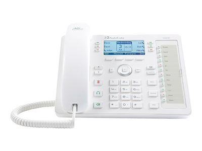 AudioCodes 430HD SIP IP Phone VoIP phone 3-way call capability SIP, SDP 6 lines whi