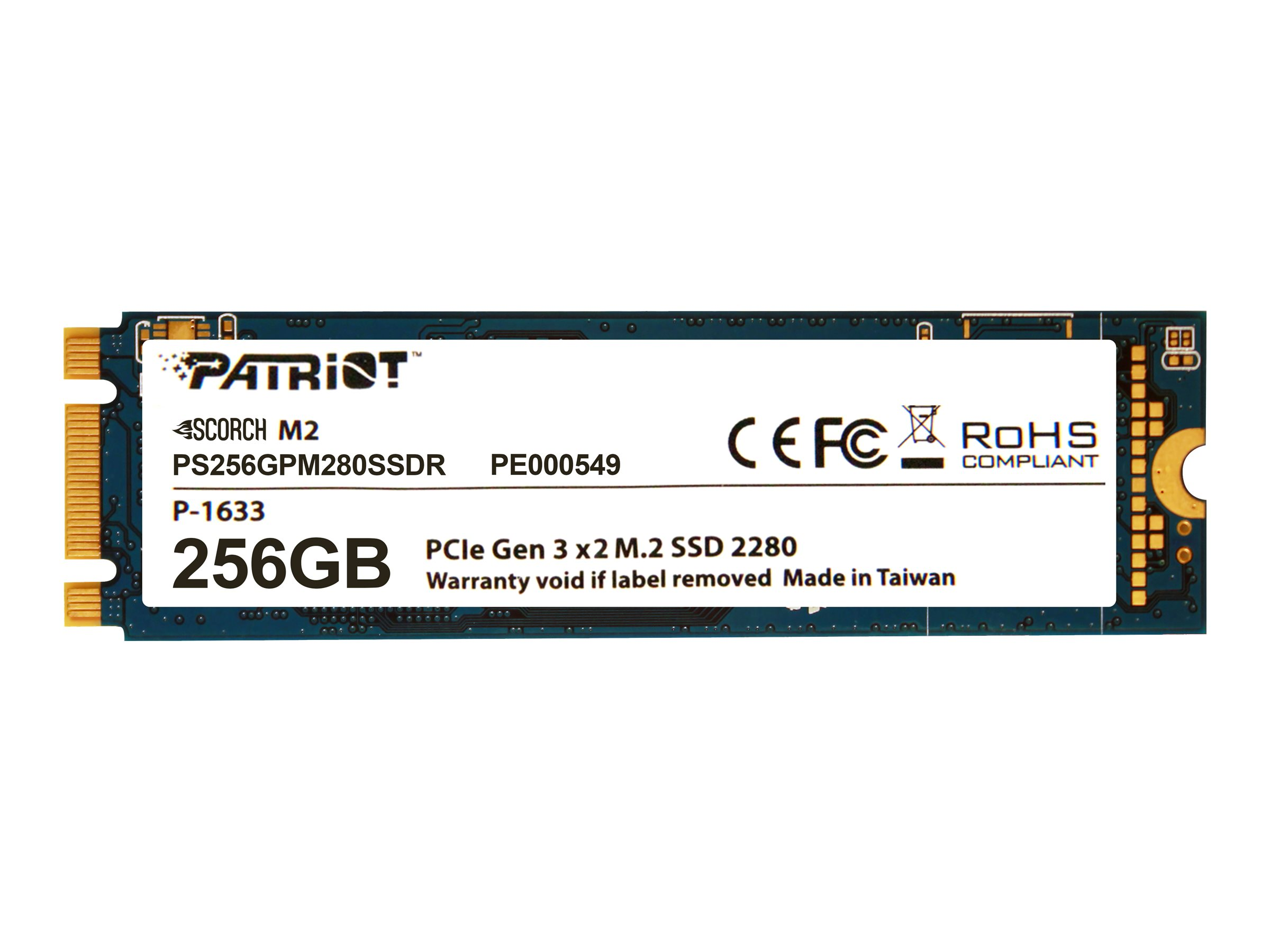 Patriot Scorch - solid state drive - 256 GB - PCI Express 3.0 x2 (NVMe)