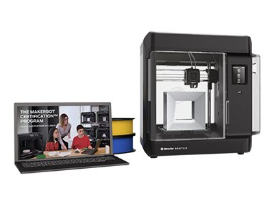 MakerBot SKETCH Classroom 3D printer FDM build size up to 5.91 in x 5.91 in x 5.91 in