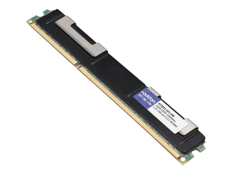 AddOn 16GB Factory Original RDIMM for HP 672631-S21 - DDR3 - 16 GB - DIMM 240-pin - registered
