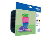 Brother LC 221 Value Pack Sort Gul Cyan Magenta 260 sider