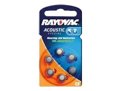 Rayovac Acoustic Special 13 - Batterie 6 x PR48 - Zink-Luft