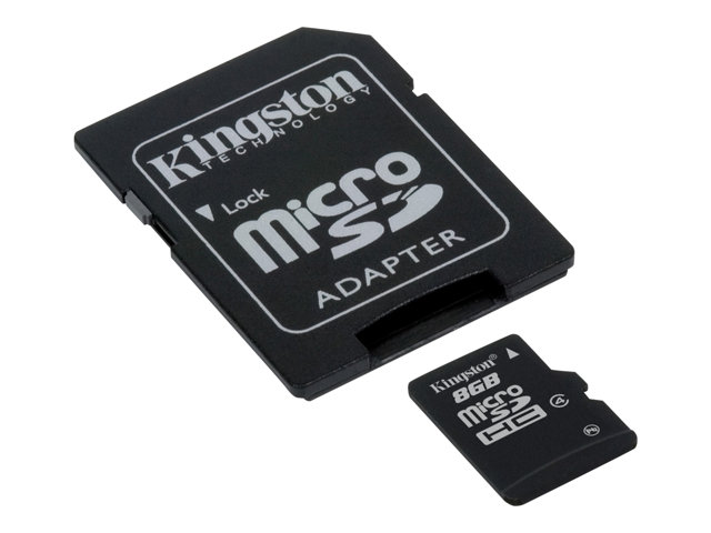 Kingston - Carte mémoire flash (adaptateur microSDHC - SD inclus(e)) - 8 Go
