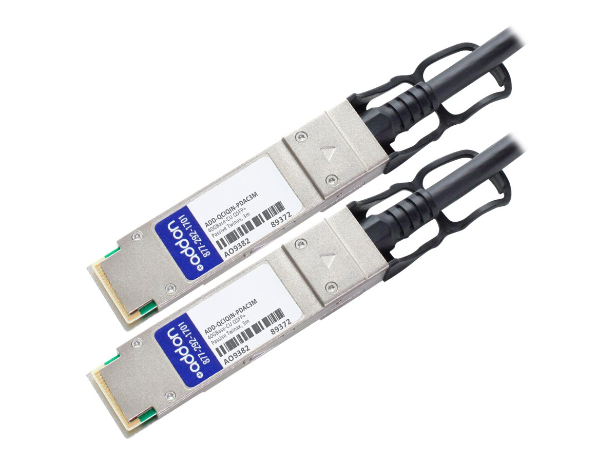AddOn 40GBase direct attach cable - TAA Compliant - 3 m