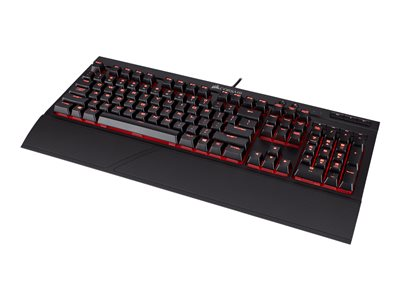 CORSAIR Gaming K68 Mechanical Tastatur Mekanisk Rød Kabling Engelsk - USA