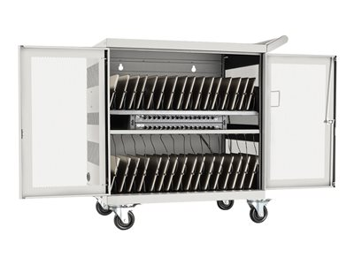 Tripp Lite 32-Port USB Charging Cart Storage Station iPad Android Tablet White