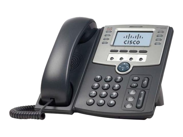 Cisco Small Business SPA 509G - VoIP-Telefon - SIP, SIP v2, SPCP - mehrere Leitungen - Silber, Dunkelgrau - für Small Business Pro Unified Communications 320 with 4 FXO