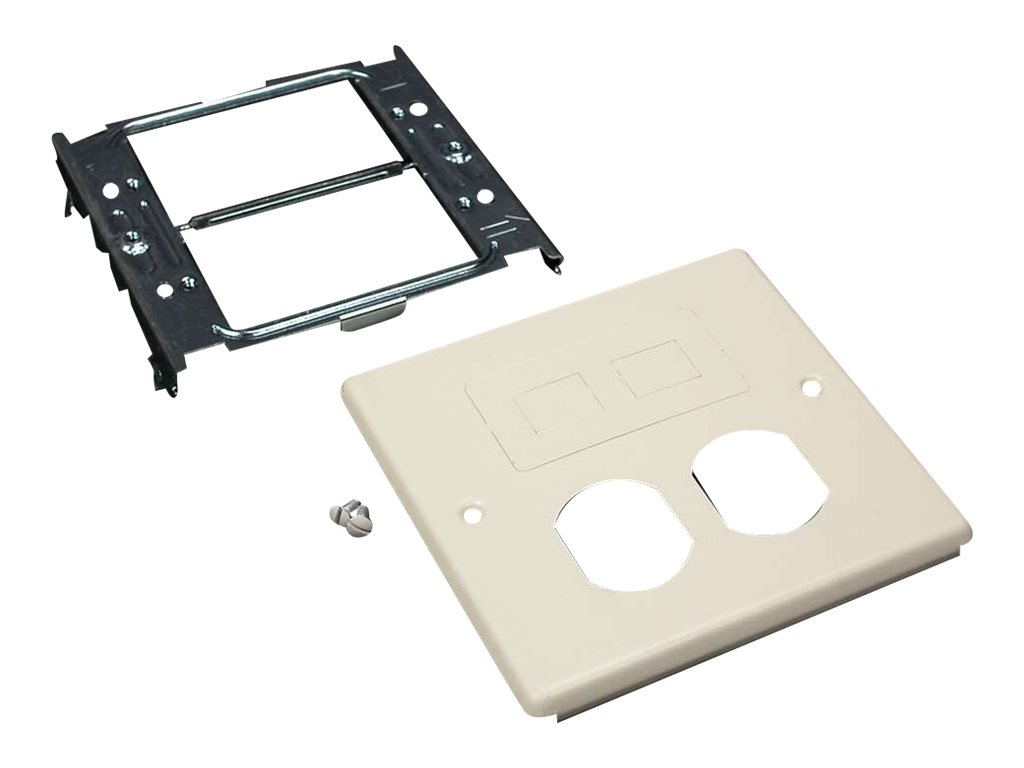 Wiremold 4047 Double Gang Cover Duplex and Modular Furniture Fitting for Wiremold 4000 - faceplate pre-cut cover