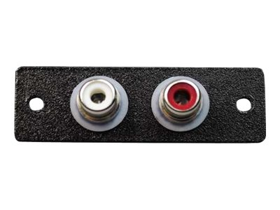 C2G Wiremold Audio/Video Interface Plates (AVIP) Two RCA Female to Solder Cups - faceplate