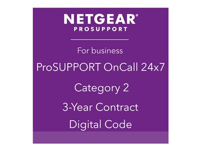 NETGEAR ProSupport OnCall 24x7 Category 2 Technical support phone consulting 3 years 2