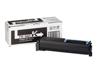 Kyocera TK-560K black laser toner kit for use in FS-C5300DN printers. Approximate page yield 12,000.