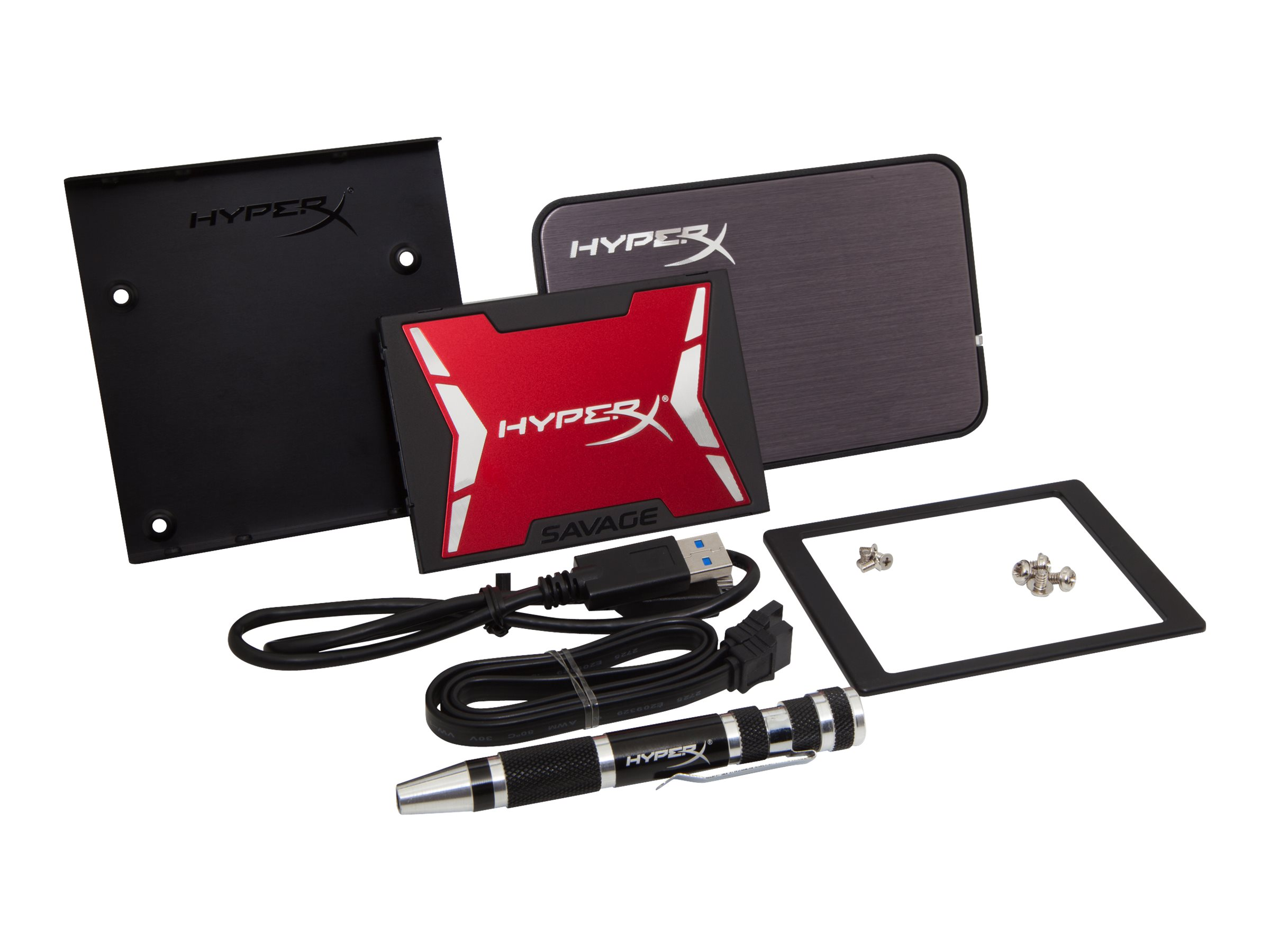 HyperX Savage Upgrade Bundle Kit - Solid-State-Disk - 240 GB - intern - 2.5