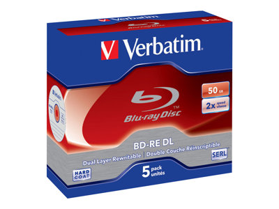 - BD-RE DL x 5 - 50 GB - Speichermedium