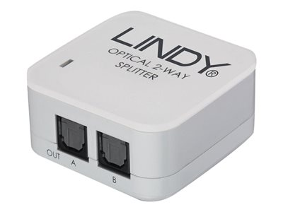 Lindy 2 Way TosLink Digital Optical Audio Splitter (upto 192kHz)