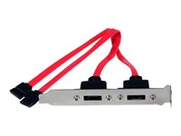 StarTech.com Support 2 SATA vers 2 Ports eSATA - Plaque d'Adaptation