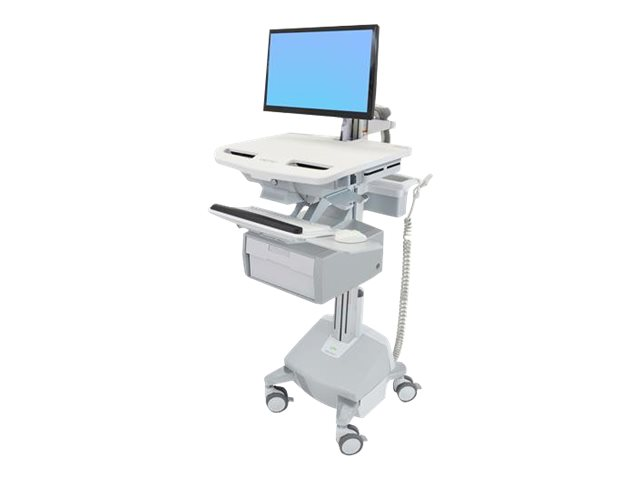 Ergotron StyleView Electric Lift Cart with LCD Arm, LiFe Powered, 1 Tall Drawer (1x1) - cart (open architecture)
