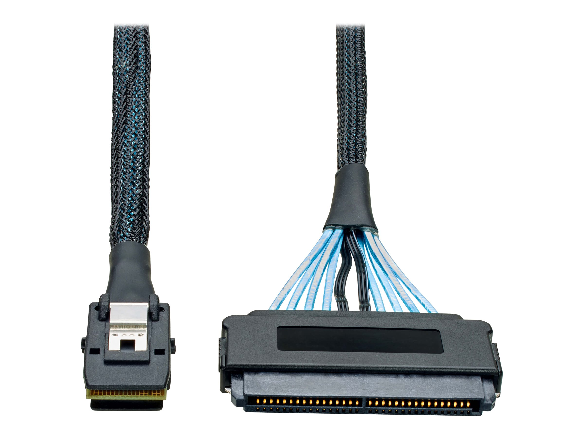 Tripp Lite 3ft Internal SAS Cable mini-SAS SFF-8087 to 32pin SFF-8484 4-in-1 3' - SAS internal cable - 91 cm