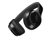 Beats Solo3 - Casque avec micro - sur-oreille - Bluetooth - sans fil - noir brillant - pour 10.5-inch iPad Pro; 12.9-inch iPad Pro; 9.7-inch iPad (5th generation, 6th generation); iPad Air; iPad Air 2; iPad mini 2; 3; 4; iPhone 5, 5c, 5s, 6, 6 Plus, 6s, 6s Plus, 7, 7 Plus, 8, 8 Plus, SE, X; iPod touch (6G); TV; Watch