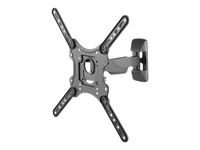 "TV/Monitor Wall Mount (2 pivots & tiltable) for 23""-55"" Screen - Black"