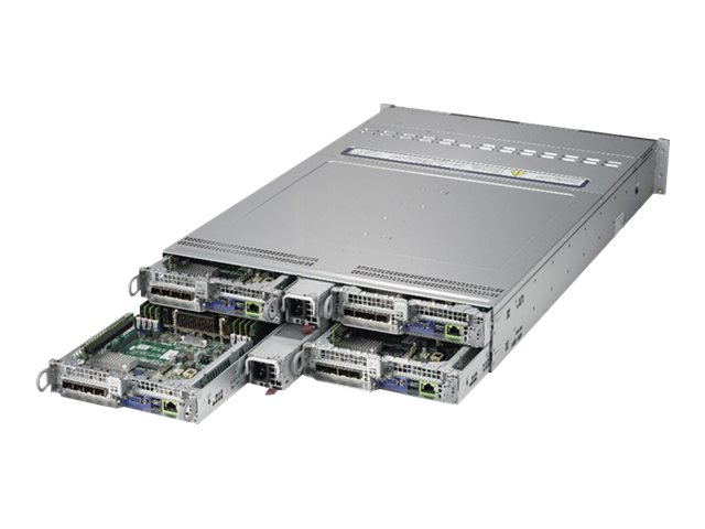Supermicro A+ Node Server 2123BT-HTR 2U Per Node: 6x 2.5inch Hot-swap, 2x Socket SP3, 16x DDR4 max 2TB, 2x PCIe, IPMI