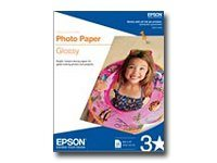 Epson - ANSI A (Letter) (216 x 279 mm) 20 sheet(s) photo paper - for Expression Home XP-434; WorkForce 1100, 610, WF-2520, 2530, 2540, 2750, 2760, 3540