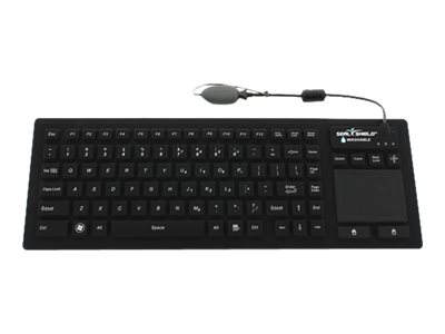 Seal Shield Seal Touch Glow Waterproof Keyboard with touchpad backlit USB QWERTY US