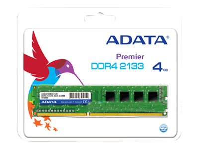 ADATA Premier Series - DDR4 - 4 GB - DIMM 288-PIN - 2133 MHz / PC4-17000 - CL15