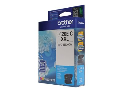Brother LC-20EC XXL Super High Yield cyan original ink cartridge