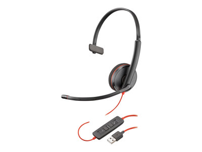 Poly Blackwire C3210 USB - 3200 Series - headset - on-ear - wired - USB