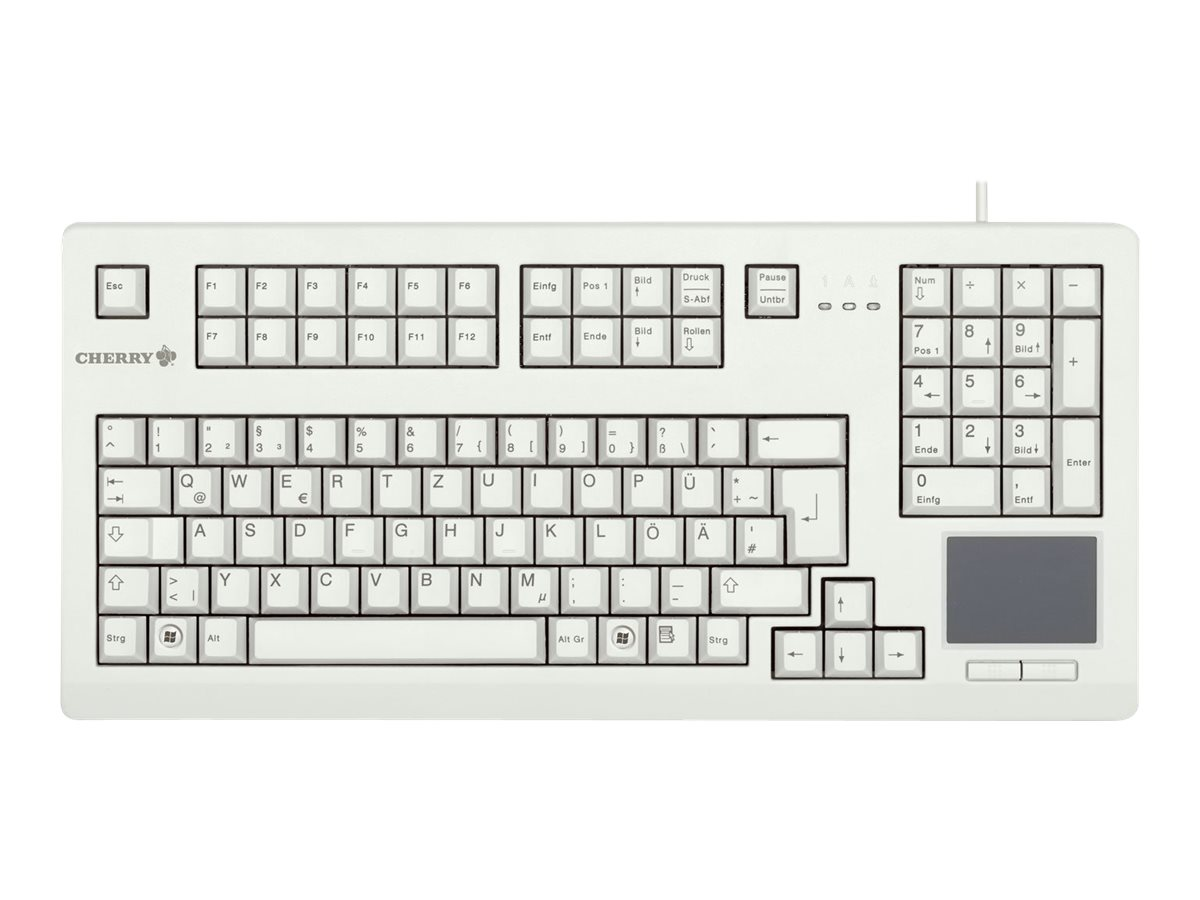 CHERRY Advanced Performance Line TouchBoard G80-11900 - Tastatur - USB - Deutsch - Hellgrau