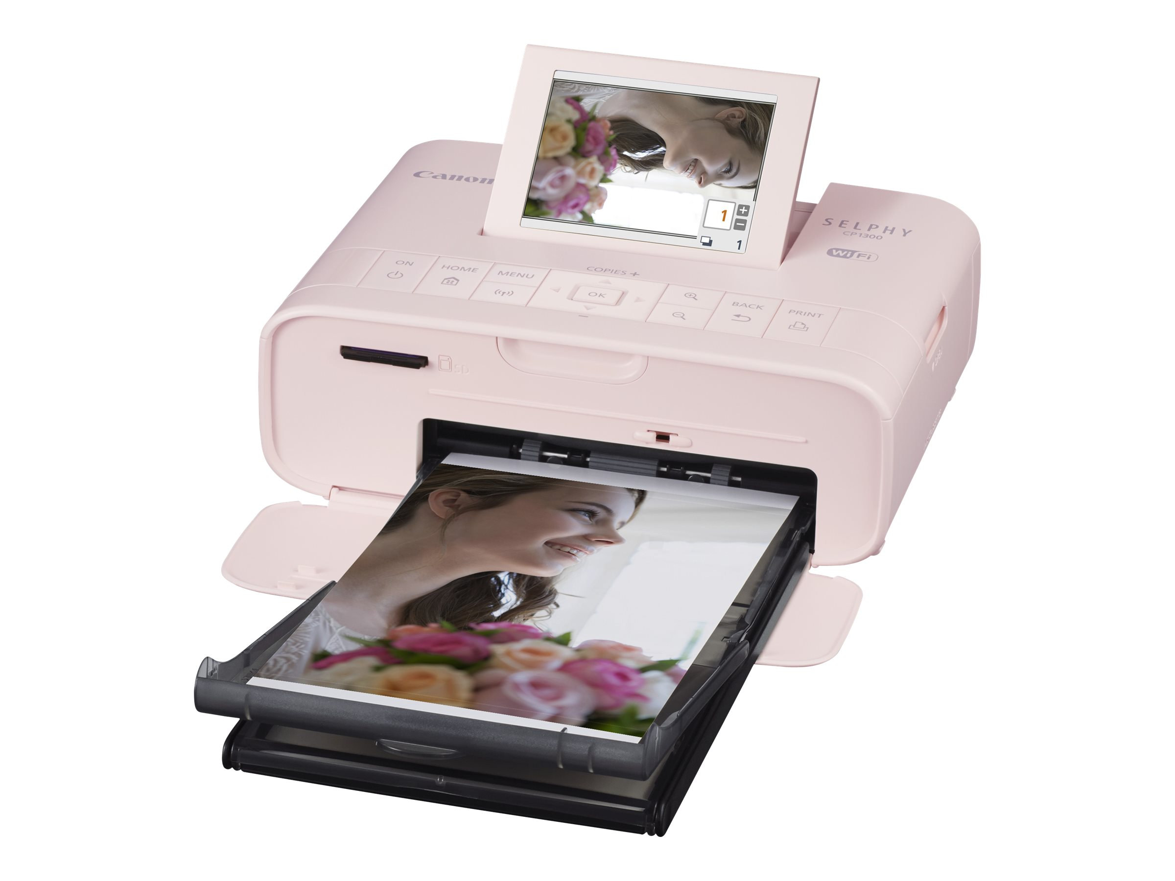 Canon SELPHY CP1300 - Drucker - Farbe - Thermosublimation - 100 x 148 mm bis zu 2.2 Abzüge/Min. (Farbe) - USB, USB-Host, Wi-Fi