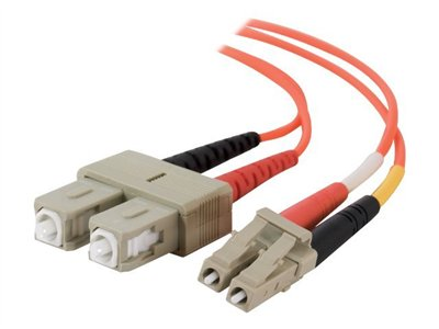 C2G LC-SC 62.5/125 OM1 Duplex Multimode Fiber Optic Cable (TAA Compliant) Patch cable