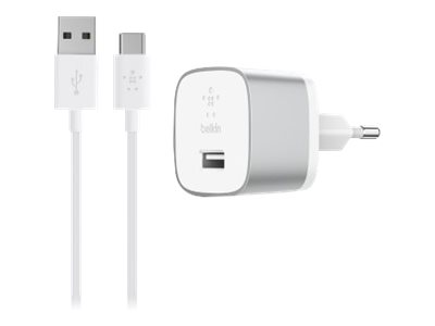 PACK CHARGEUR SECTEUR BOOST-UP? QUICK CHARGE? 3.0 + CABLE USB VERS USB-C 1.2M SILVER - BELKIN