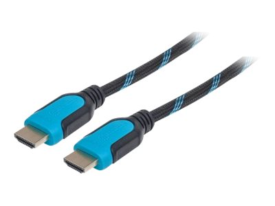 Manhattan HDMI with Ethernet cable HDMI (M) to HDMI (M) 10 ft double shielded