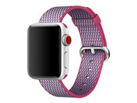 Apple 38mm Woven Nylon Band - Bracelet de montre - 125 - 195 mm - vérification de baie - pour Watch (38 mm)