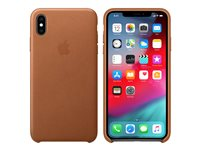 Apple - Back cover for mobile phone - leather - saddle brown - for iPhone Xs Max